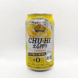 チューハイまる搾り シチリア産レモン果汁使用